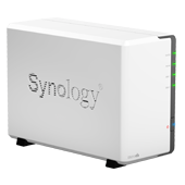 Synology DS213air. Вид слева.