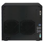 Synology DS2413+. Вид сзади.